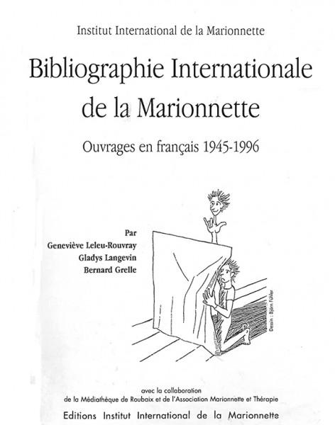 BIBLIOGRAPHIE INTERNATIONALE DE LA MARIONNETTE